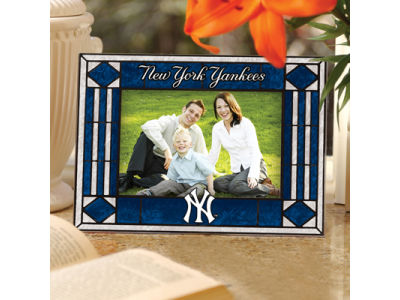 New York Yankees Art Glass Picture Frame