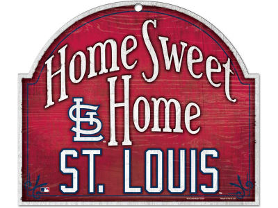 St. Louis Cardinals Home Sweet Home Wood Sign