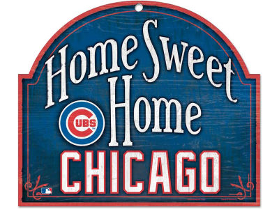 Chicago Cubs Home Sweet Home Wood Sign