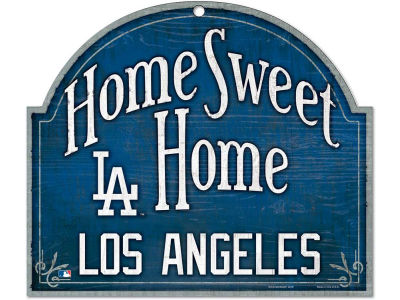 Los Angeles Dodgers Home Sweet Home Wood Sign
