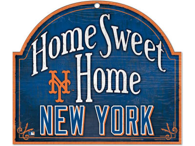 New York Mets Home Sweet Home Wood Sign