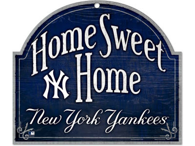 New York Yankees Home Sweet Home Wood Sign