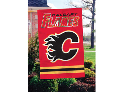 Calgary Flames Applique House Flag