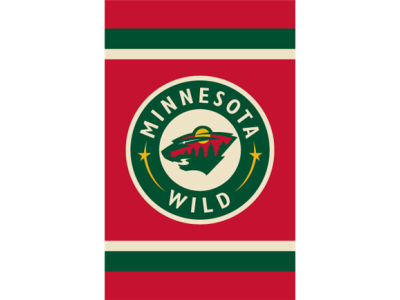 Minnesota Wild Applique House Flag