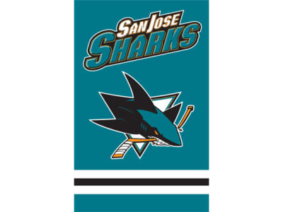 San Jose Sharks Applique House Flag
