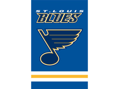 St. Louis Blues Applique House Flag
