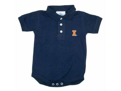 Illinois Fighting Illini NCAA Newborn Polo Romper