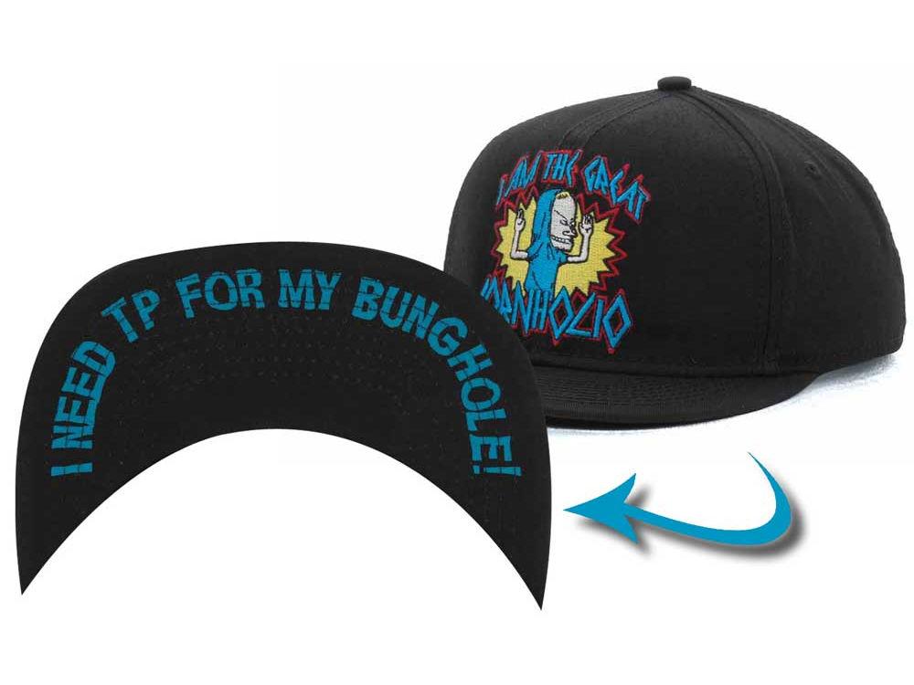 32a1b752001 BEAVIS   BUTTHEAD Beavis And Butthead Cornholio Snapback Cap