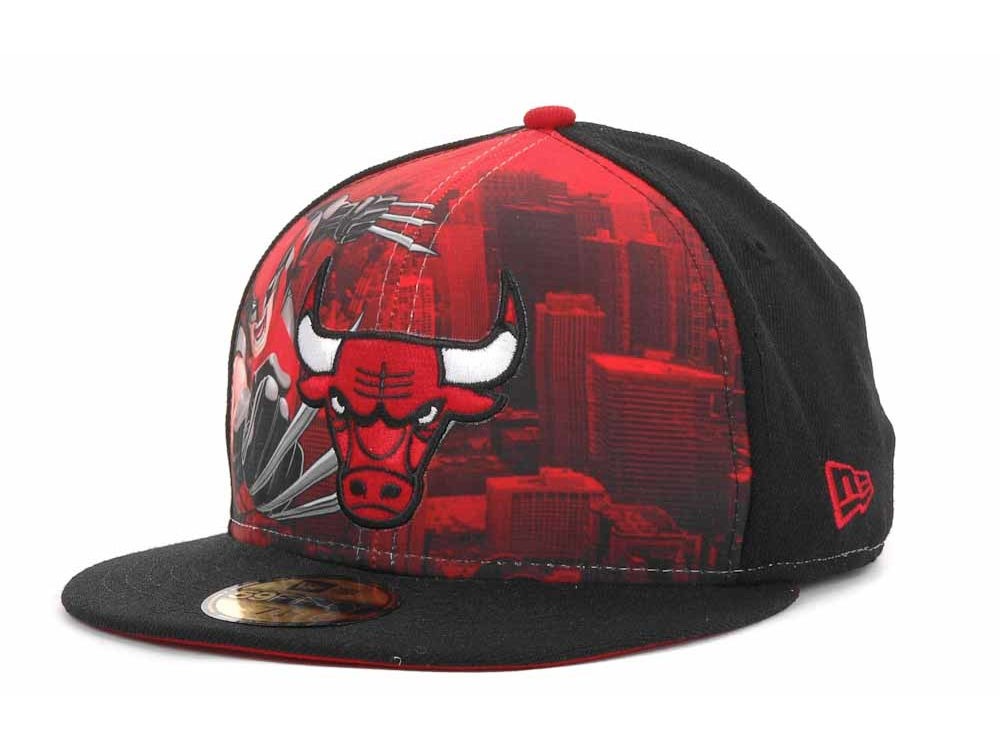 Chicago Bulls New Era NBA Marvel City 59FIFTY Cap  3463c09e844