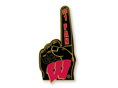 Wisconsin Badgers Number 1 Fan Pin