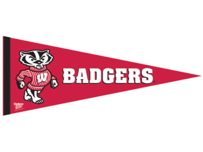 Wisconsin Badgers 12x30in Pennant