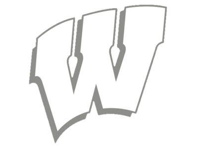 "Wisconsin Badgers Die Cut Decal 8""x8"""