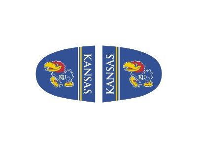 Kansas Jayhawks Mirror Covers-Large