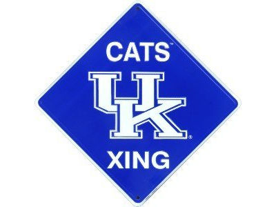 Kentucky Wildcats Large Crossing Sign