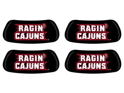 Louisiana Ragin' Cajuns 2 Pair Eyeblack Sticker