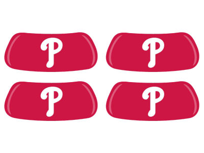 Philadelphia Phillies 2 Pair Eyeblack Sticker