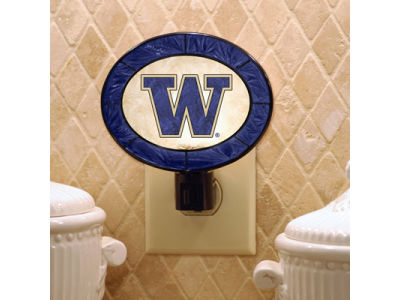 Washington Huskies Art Glass Night Light