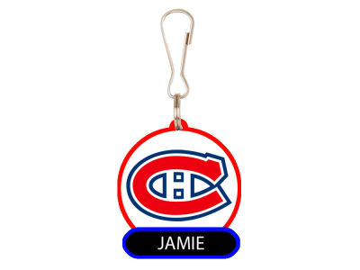 Montreal Canadiens Name PVC Zipper Pull