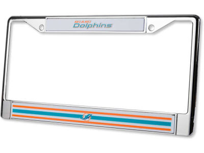 Miami Dolphins Chrome Frame
