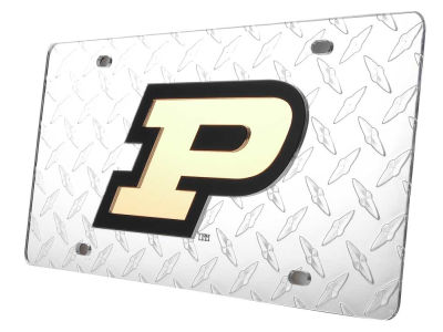 Purdue Boilermakers Diamond Acrylic Laser Tag