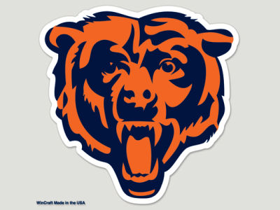 Chicago Bears Die Cut Color Decal 8in X 8in