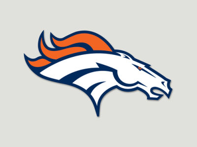 Denver Broncos Die Cut Color Decal 8in X 8in
