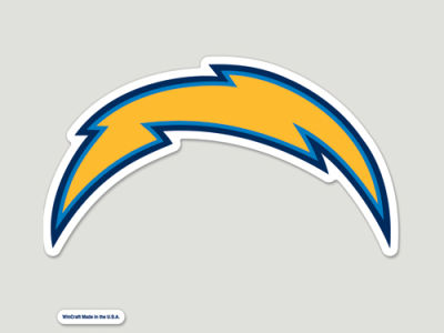 Los Angeles Chargers Die Cut Color Decal 8in X 8in