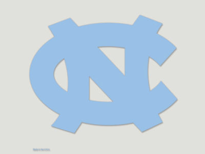 North Carolina Tar Heels Die Cut Color Decal 8in X 8in