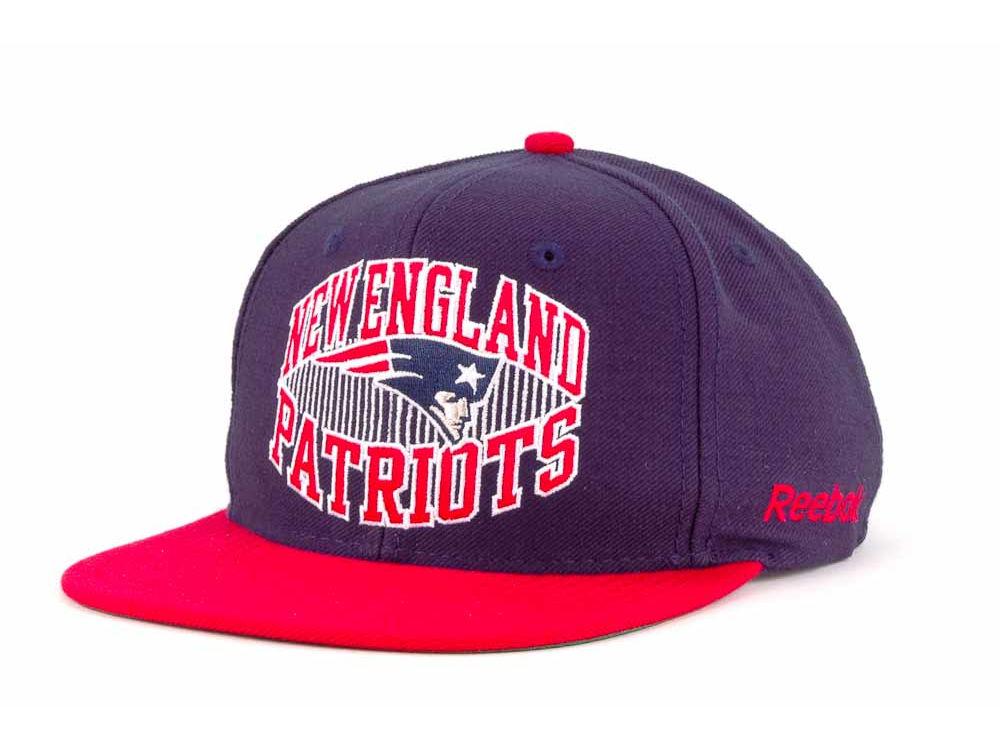 New England Patriots Reebok NFL Direct Snap Snapback Cap  de72a63e84a