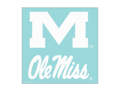"Ole Miss Rebels Die Cut Decal 8""x8"""