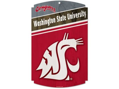 Washington State Cougars 11x17 Wood Sign