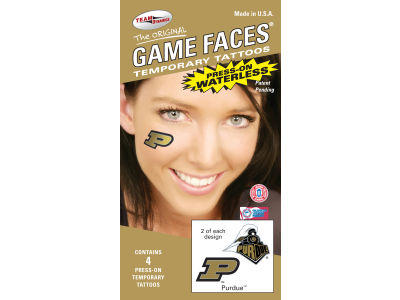 Purdue Boilermakers Waterless Game Face Tattoo