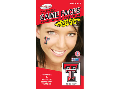 Texas Tech Red Raiders Waterless Game Face Tattoo