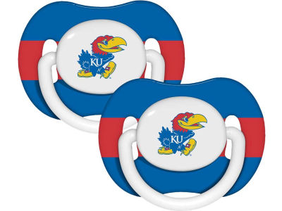 Kansas Jayhawks 2-pack Pacifier Set