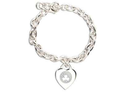 Boston Celtics NBA Silver Charm Bracelet