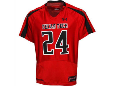 Texas Tech Red Raiders TTU #24 Under Armour NCAA Youth Replica Football Jersey