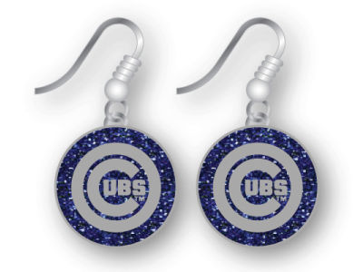 Chicago Cubs Glitter Dangle Earrings Aminco
