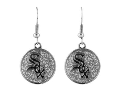 Chicago White Sox Glitter Dangle Earrings Aminco