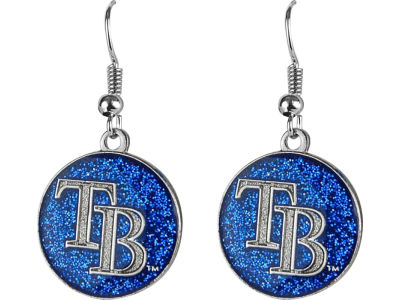 Tampa Bay Rays Glitter Dangle Earrings Aminco