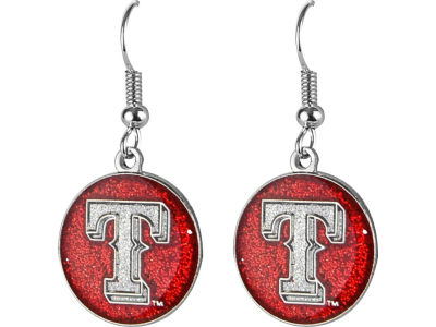 Texas Rangers Glitter Dangle Earrings Aminco