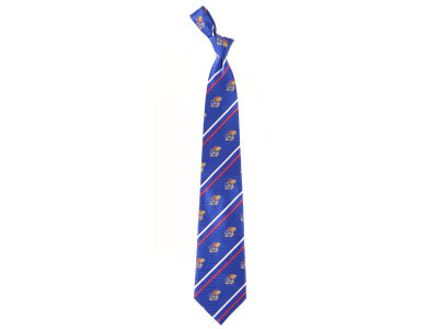 Kansas Jayhawks Necktie Cambridge Stripe Woven Silk