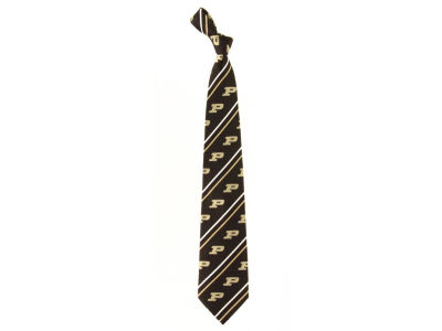 Purdue Boilermakers Necktie Cambridge Stripe Woven Silk