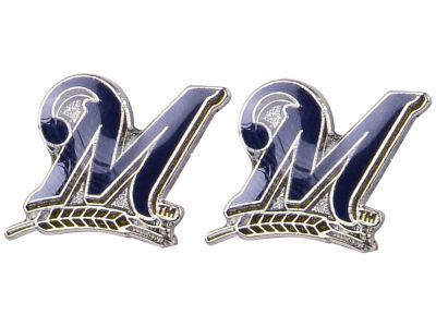 Milwaukee Brewers Logo Post Earrings