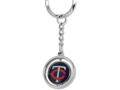 Minnesota Twins Rubber Baseball Spinning Key Ring