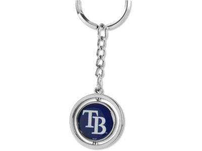Tampa Bay Rays Rubber Baseball Spinning Key Ring