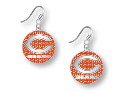 Chicago Bears Glitter Dangle Earrings Aminco