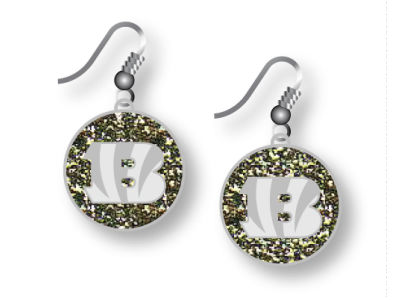 Cincinnati Bengals Glitter Dangle Earrings Aminco