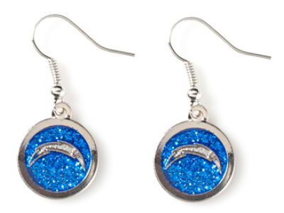 San Diego Chargers Glitter Dangle Earrings Aminco