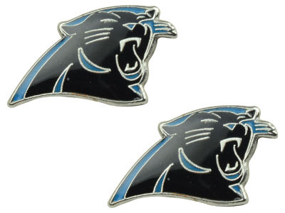 Carolina Panthers Logo Post Earrings