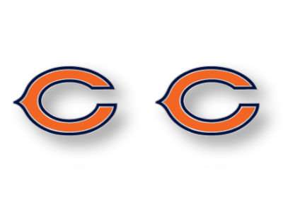 Chicago Bears Logo Post Earrings